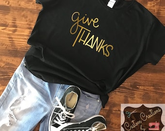 Give Thanks Ladies T-Shirt