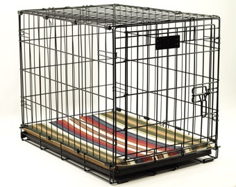 Large Waterproof Dog Crate Pad, 42x28, Choose Your Fabric, Non Slip Dog Crate Pad, Dog Crate Mat, Pet Crate Pad,Pet Crate Mat,Dog Travel Pad