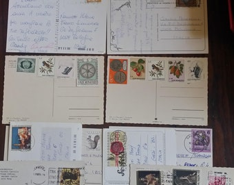 Lot 182 Postcards Years 60-70-80 traveled and not