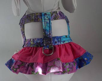 Dog Harness - Dog Clothes - Custom Dog Harness - Alaskan Meadow Ruffle - Dog Apparel -  Dog Dress - Small Dog Harness