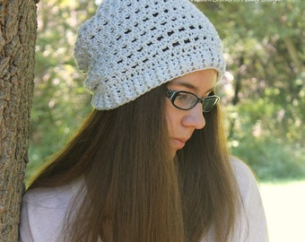 Crochet PATTERN - Slouchy Hat Crochet Pattern - Crochet Hat Pattern - Crochet Patterns - Includes Toddler, Child, Adult Sizes - PDF 383
