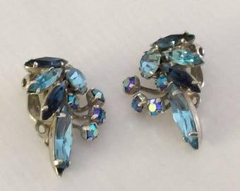 Sherman sky blue iridescent earrings #1194