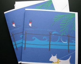 Bull Terrier Cards The Lighthouse