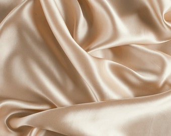 "45"" Wide 100% Silk Charmeuse Champagne-Wholesale by the Yard (1000M108)"