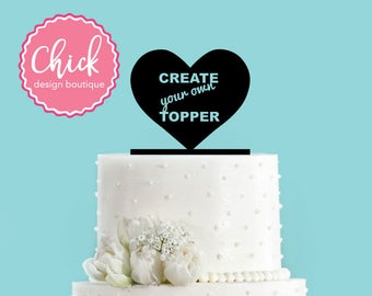 Create Your Own Custom Acrylic Wedding Cake Topper - Anything You Can Imagine