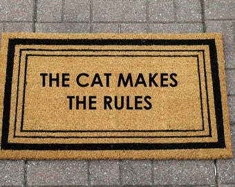 The Cat/Dog Makes The Rules - Doormat, Welcome Mat