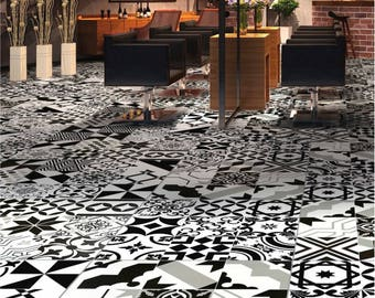Patchwork style tile cement Zeal