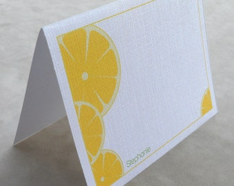 Cheerful Lemons Personalized Stationery - (Set of 10)