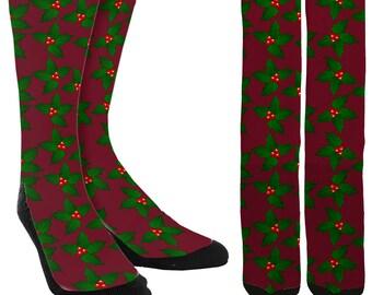 Holiday Crew Socks - Holiday Socks - Christmas Socks -Socks for Christmas - Unique Socks - Novelty Socks - Cool Socks - FREE Shipping E01