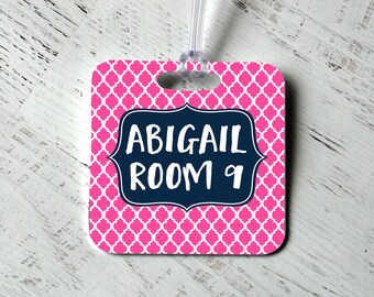 Custom Bag Tag - Monogram Backpack Name Tag - Personalized Diaper Bag Tag -  Luggage Tag - Monogram Gift - Personalized Gift for Her