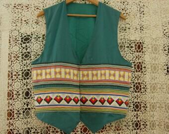 Seminole Patchwork Mens Vest Medium size