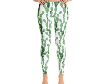 Printed Leggings | Cactus Leggings | Succulent Leggings  | Workout Leggings | Yoga Leggings | Fashion Leggings