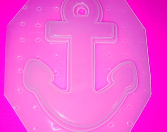 Nautical Sail Boat Anchor Flexible Plastic Mold For Resin Jewelry Crafts