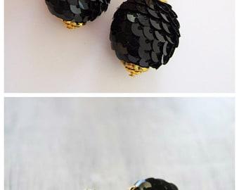 Gold Earings Gold jewellery Earrings for girls Black Earrings gold Long earrings Cool earrings Big earrings Christmas earrings Magic Earring