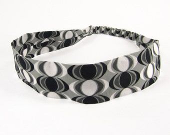 """Fabric Headband - Arctic Lights - Pick your size - fit toddlers to adults - 1-1/2"""" wide"""