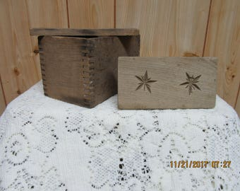 ON SALE! Antique Butter Mold and Stamp