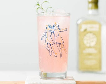 Zodiac Constellation Astrology Glassware - Screen printed collins glass