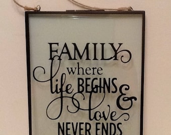Family Quotation Frame