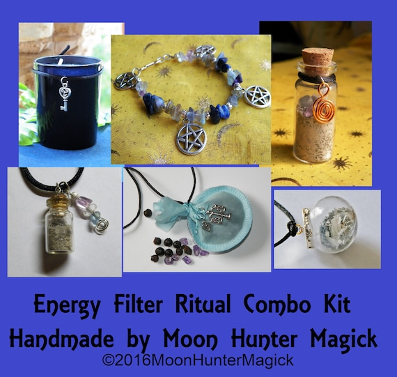 Energy Filter / Empathy Shield© Ritual Combo Kit Chakra Aura Shielding Ritual Kit