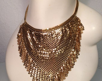 FREE  SHIPPING  Whiting and Davis Mesh  Necklace