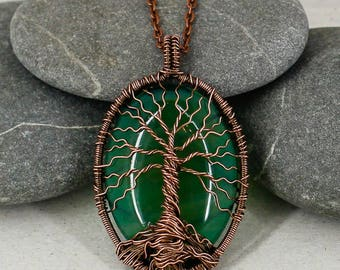 Tree of life necklace Boho jewelry Copper jewelry Birthday gift for mom gift for wife gift for sister gift for grandma gift for men gift dad