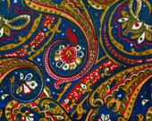 Vintage royal blue, red, ...