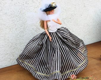 Set Barbie set petticoat, skirt, top and hat. hand made