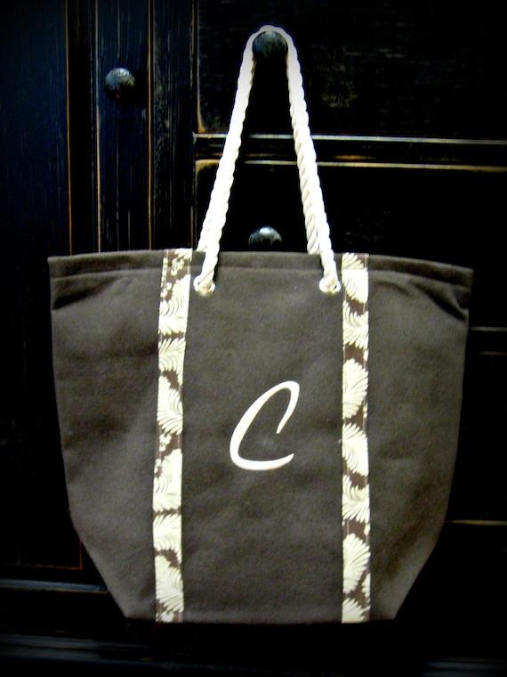 Large Canvas Bag Includes Monogram