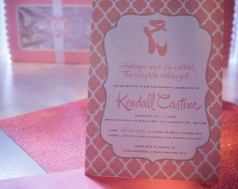 Pink Ballet Birthday Party Invitations for Your Prima Ballerina