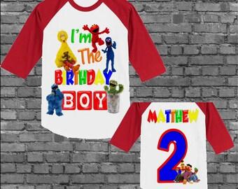 Sesame Street Birthday Shirt - Sesame Street Shirt - Other Styles Available
