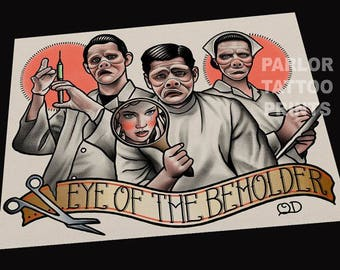 Eye of The Beholder (Twilight Zone) Tattoo Art Print