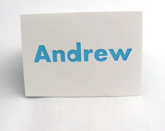 Andrew, Boys Name Card, Personalized Blank Card, Childrens Birthday Card, Custom Name Card