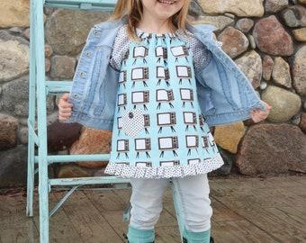 Emma Tunic, Girls Tunic, Toddler Tunic, Peasant Tunic, Little Girl Tunic, Toddler Peasant Top, Girl Peasant Top, Peasant Top, Tunic Top