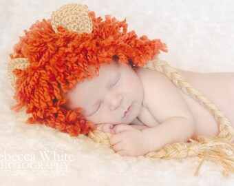 CROCHET PATTERN PDF - Lion Hat and Diaper Cover Pattern - Permission to Sell Finished Items