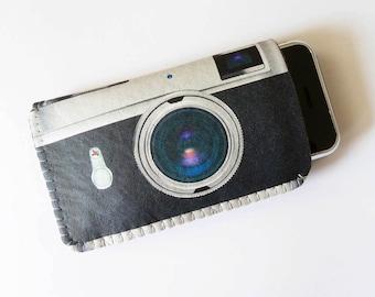 Retro Camera iPhone 8 Case, iPhone 7 Case, iPhone 6/6S Case, iPhone 5/5S/5C Case - Retro Camera iPhone Cover - Soft Felt iPhone 6 Cover