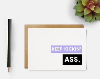 You Got This Card | Affirmation Card | Cancer Card | Recovery Card | Encouragement Card | Uplifting Card | Keep Kickin Ass Card