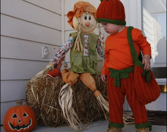Pumpkin Halloween Outfit - CROCHET PATTERN
