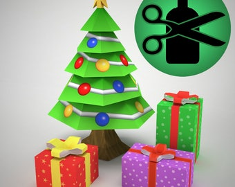 Christmas Tree Papercraft DIY