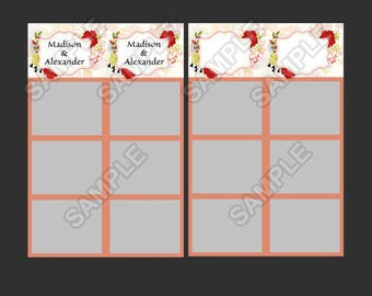 50% off,wedding photo booth template,instant download,wedding selfie booth template,flower wedding theme photo,photo strip,photo booth strip