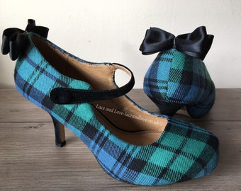 Custom tartan shoes (Exclusive package) | tartan wedding shoes