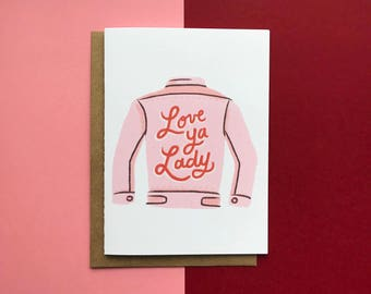 Love Ya Lady Denim Jacket- Card, Friend, Love