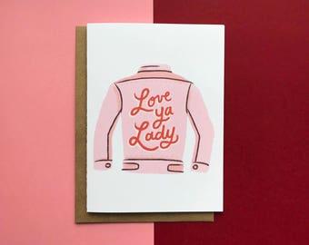 Liebe Ya Lady Denim Jacke - Karte, Freund, Liebe
