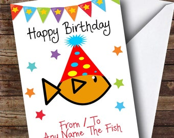 To From Pet Goldfish Personalised Birthday Card