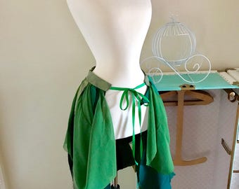 Green Upcycled Fairy Skirt Bustle