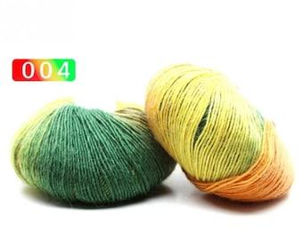 2 - Rainbow Wool Anti-pilling Yarn Skeins - #