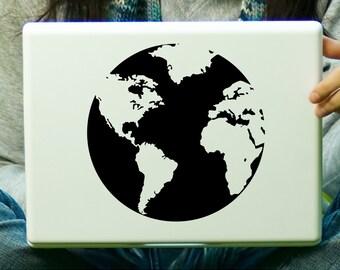 Globe Sticker Decal Laptop Decal iPad