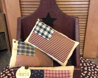 Primitive Americana flag bowl fillers/pillows/shelf sitters