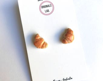 Croissant Earrings or Pendant - Handmade French Classic Patisserie Bakery Item you can wear!