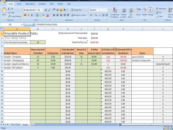 sales tracker excel