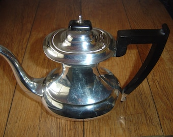 Vintage Viners Silver Plate Art Deco Coffee Pot.